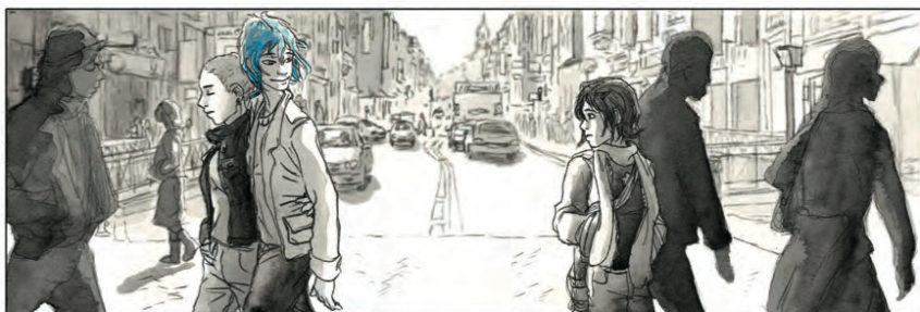 Blue is the warmest Color - Panel aus dem Comic